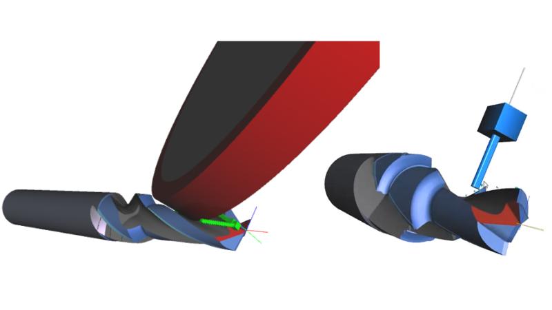 Die standardmässig integrierte 3D-Prozesssimulation von Qg1 stellt schon vor dem Gang an die Maschine ein realistisches Bild des Werkzeugs dar.