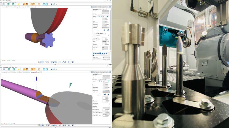 Qg1: Automatische Berechnung der Scheibenform und Erzeugung von Schleifbahnen.