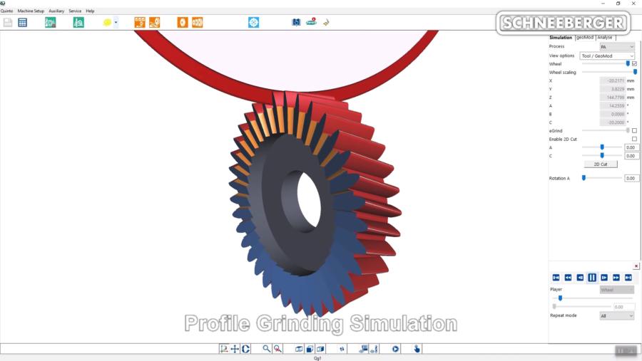 3D-Ansicht des Wälzschälrads in Qg1
