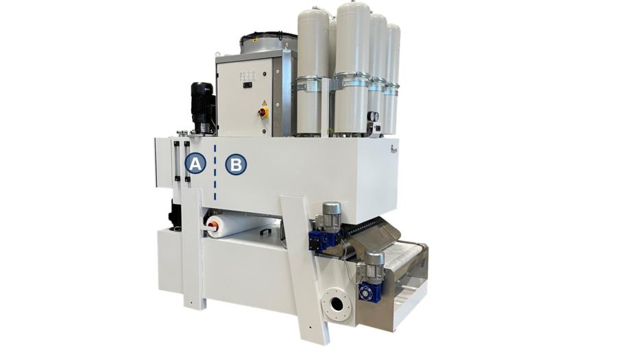 Doppel-Kühlkreislauf des Vasca NGV900: A) Antriebskühlung B) Prozesskühlung